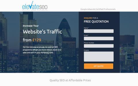 Screenshot of Landing Page webcreationuk.co.uk captured Sept. 26, 2016