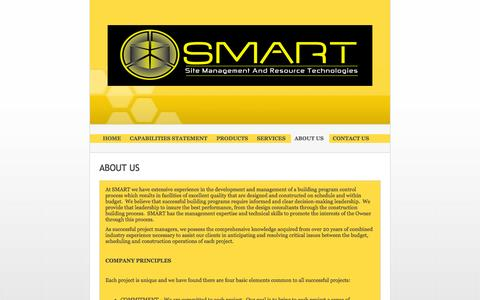 Screenshot of About Page smartllc.us - Site Management And Resource Technologies (SMART) LLC - About Us - captured Nov. 4, 2014