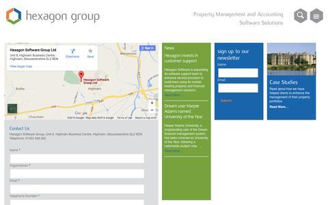 Screenshot of Contact Page hexagon.co.uk - Contact Us - Hexagon - captured April 20, 2016