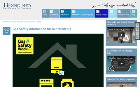 Screenshot of Blog robertheath.co.uk - Blog » Robert Heath Heating - Providing gas services for Social Housing in the UK - captured Nov. 13, 2017