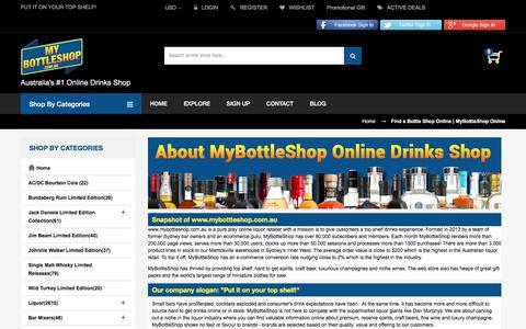 Screenshot of About Page mybottleshop.com.au - Find a Bottle Shop Online | MyBottleShop Online | MyBottleShop Australia - captured Nov. 6, 2016