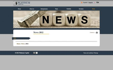 Screenshot of Press Page platinumcapital.es - Noticias 2012 - captured Oct. 2, 2014