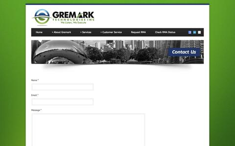 Screenshot of Contact Page gtiservice.com - Contact Us | Gremark Technologies Inc. - captured Nov. 2, 2014