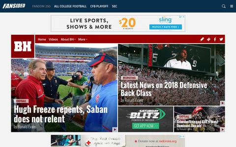 Screenshot of Home Page bamahammer.com - Bama Hammer - An Alabama Crimson Tide Community - News, Blogs, Opinion and more. - captured Jan. 25, 2018