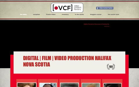Screenshot of Home Page videocontentfactory.com - video content factory   digital   film   video production Halifax   - captured Jan. 23, 2015