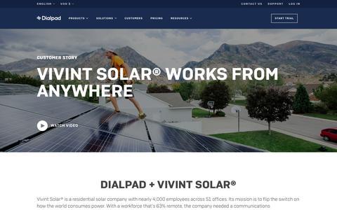 Vivint Solar works from anywhere | Dialpad | Dialpad
