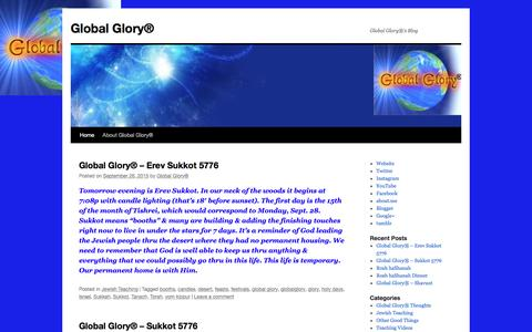 Screenshot of Blog globalglory.gg - Global Glory® | Global Glory®'s Blog - captured Jan. 29, 2016