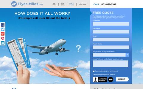 Screenshot of FAQ Page flyer-miles.com - how it works - Flyer-Miles.com - captured Jan. 8, 2016