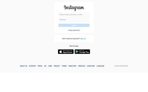 Screenshot of Signup Page instagram.com - Login • Instagram - captured July 19, 2018