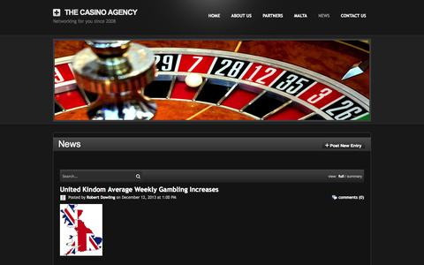 Screenshot of Press Page thecasinoagency.com - News - The Casino Agency - captured Oct. 7, 2014