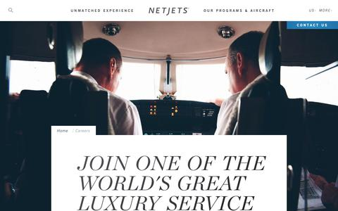 Screenshot of Jobs Page netjets.com - Careers | Private Jet Pilot Positions | Corporate Jobs | NetJets - captured Oct. 14, 2017