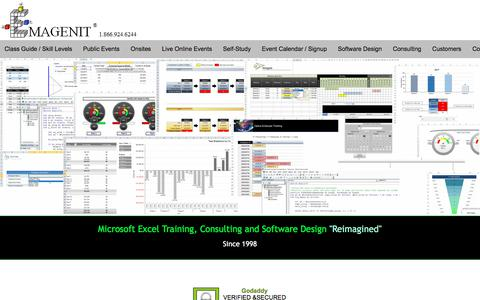 Screenshot of Home Page emagenit.com - Microsoft Excel Training, Excel Consulting and Excel Software Design - captured June 15, 2018