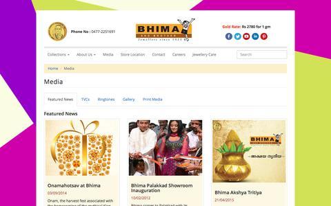 Screenshot of Press Page bhima.in - Media and News Bhima  Press and Shows Bhima   Latest News Bhima - captured Nov. 21, 2016