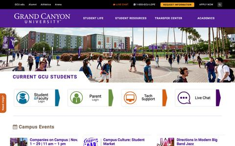 Current Students | Grand Canyon University