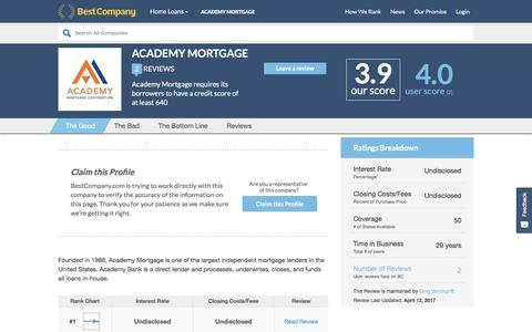 Academy Mortgage Reviews | Real Customer Reviews
