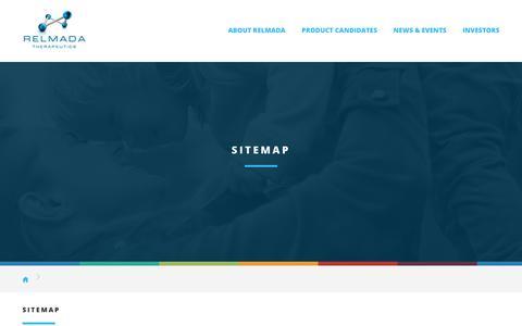 Screenshot of Site Map Page relmada.com - Sitemap :: Relmada Therapeutics, Inc. (RLMD) - captured Oct. 21, 2017