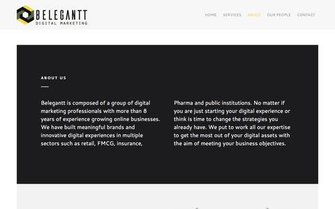Screenshot of About Page belegantt.com - About | Belegantt - captured July 29, 2016
