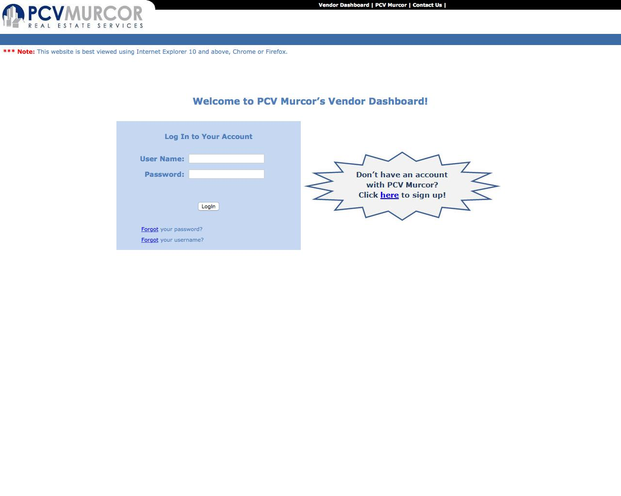 web design example a page on pcvmurcor com crayon