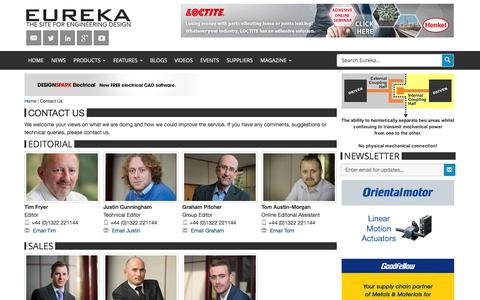 Screenshot of Contact Page eurekamagazine.co.uk - Contact Us | Eureka Magazine - captured Jan. 31, 2016