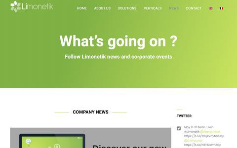 Screenshot of Press Page limonetik.com - Management of digital loyalty programs - NEWS - Limonetik - captured May 9, 2017