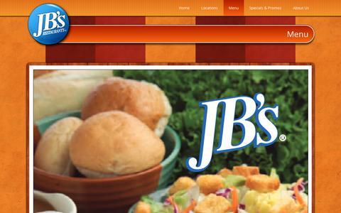 Screenshot of Menu Page jbsfamily.com - Menu | Quality Food and Hospitality - captured Nov. 29, 2018