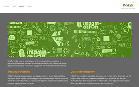 Screenshot of Services Page insight.co.nz - Services — Insight NZ - captured Nov. 3, 2014