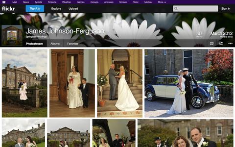 Screenshot of Flickr Page flickr.com - Flickr: Springkell Weddings' Photostream - captured Oct. 25, 2014