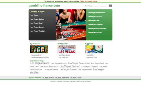 Screenshot of Home Page gambling-france.com - gambling-france.com - captured June 18, 2018