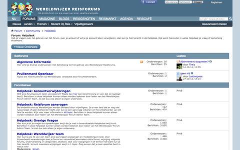 Screenshot of Contact Page wereldwijzer.nl - Helpdesk - captured Nov. 2, 2014