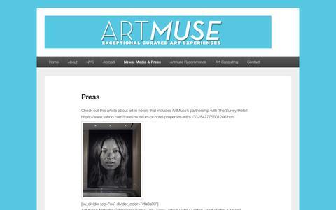 Screenshot of Press Page artmuseny.com - Press – ArtMuse - captured Feb. 6, 2016