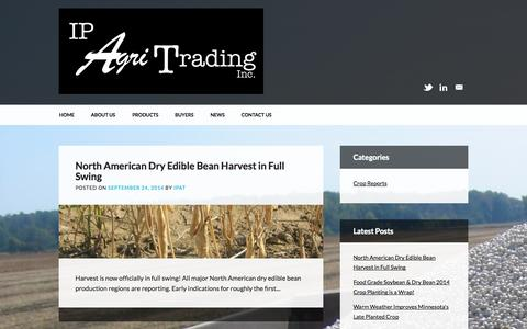 Screenshot of Press Page ipagri.com - IP Agri Trading Inc. | Grain Procurement Solution, For the Most Discerning Food Manufacturers - captured Oct. 4, 2014