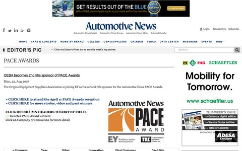 Automotive News PACE Awards