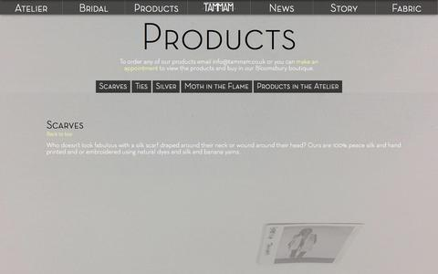 Screenshot of Products Page tammam.co.uk - :: Products :: Tammam :: - captured March 3, 2016