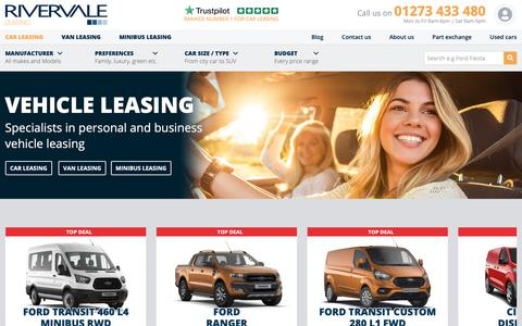 Screenshot of Home Page rivervaleleasing.co.uk - Vehicle Leasing | Rivervale Leasing - captured Jan. 21, 2019