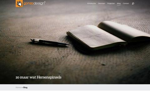 Screenshot of Blog gonzodesign.nl - Hersenspinsels van Jan Rajtoral, oprichter van gonzodesign. - captured Feb. 2, 2016