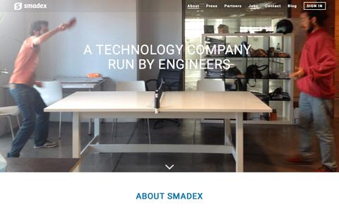 Screenshot of About Page smadex.com - About Smadex Mobile Advertising Technology Platform - captured May 9, 2017