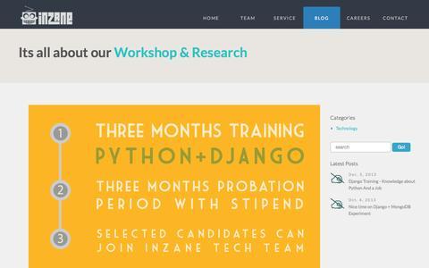 Screenshot of Blog inzane.in - Blog - captured Oct. 6, 2014
