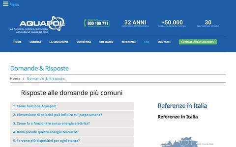 Screenshot of FAQ Page aquapol.it - Domande e Risposte - Umidità di Risalita | Aquapol - captured Nov. 20, 2019