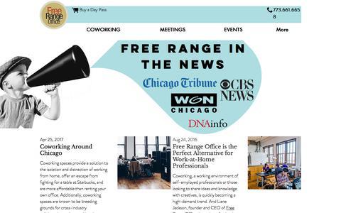 Screenshot of Press Page freerangeoffice.com - Free Range Life   Press - captured June 6, 2017
