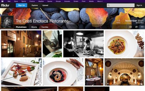 Screenshot of Flickr Page flickr.com - Flickr: Tre Cristi Enoteca Ristorante's Photostream - captured Oct. 24, 2014
