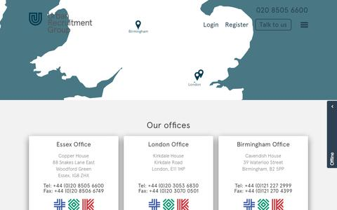 Screenshot of Locations Page urbanrec.co.uk - Locations - Urban Recruitment Group - captured Oct. 26, 2017
