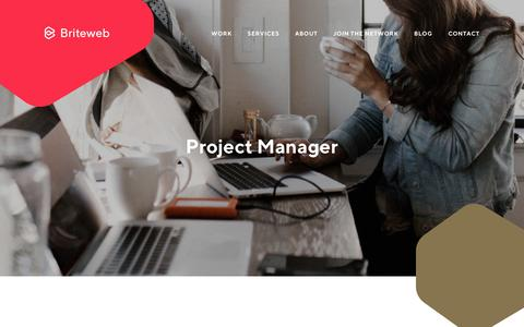Screenshot of Jobs Page briteweb.com - Employment Opportunity: Project Manager - Briteweb - captured June 2, 2018