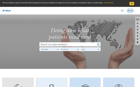 Screenshot of Jobs Page roche.com - Roche - Your future career starts here - captured March 26, 2019