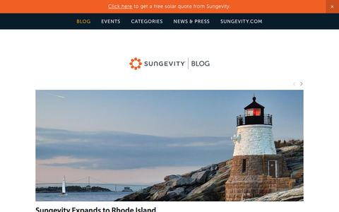 Screenshot of Blog sungevity.com - Sungevity Blog - captured Dec. 9, 2015