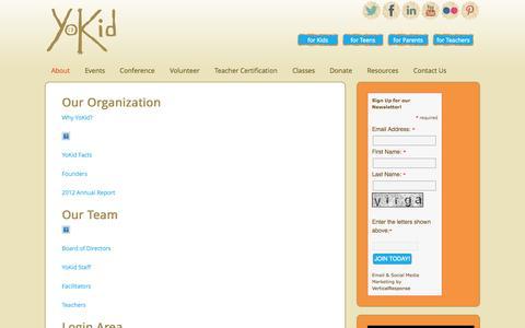 Screenshot of About Page yokid.org - YoKid | About | YoKid - captured Oct. 9, 2014