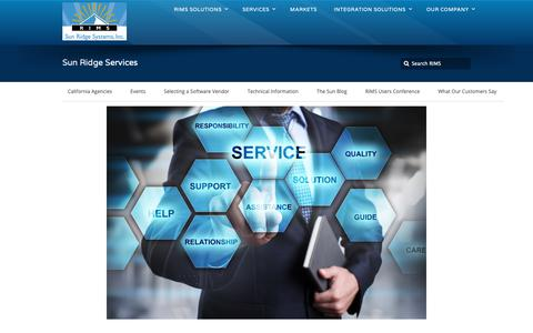 Screenshot of Services Page sunridgesystems.com - Services • Sun Ridge Systems, Inc. - captured Oct. 23, 2018