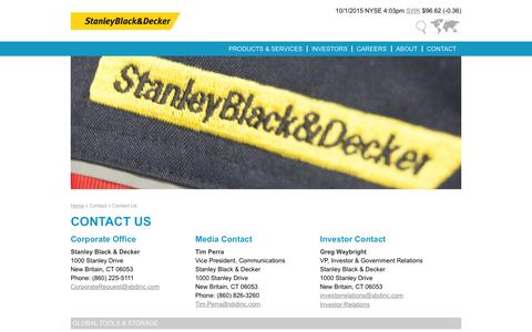 Contact Us | Stanley Black & Decker