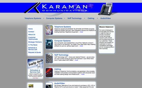 Screenshot of Home Page karamancom.com - Karaman Communications - - captured Oct. 6, 2014