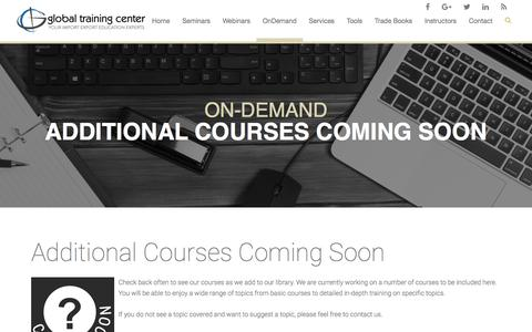 Global Training Center - Additional Courses Coming Soon