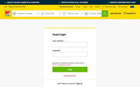 Screenshot of Login Page novasol.com - Log in   Novasol - captured Oct. 3, 2019